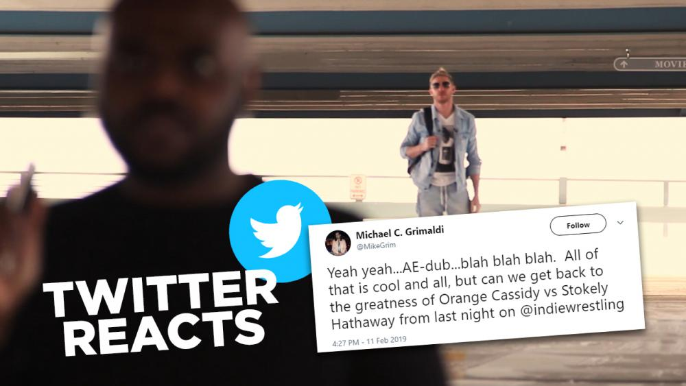 Twitter Reacts to the GRAMMYs Street Fight - Orange Cassidy (c) vs Stokely Hathaway
