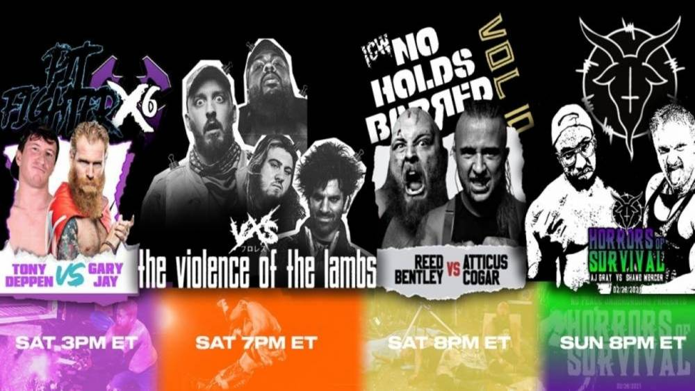 FOUR STREAM WEEKEND ON IWTV: ICW No Holds Barred, VxS, No Peace Underground