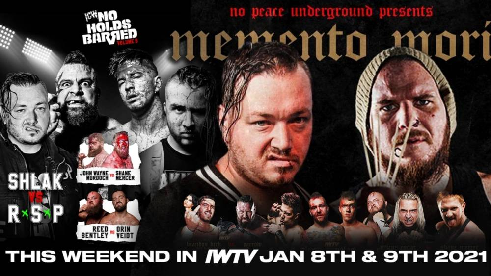 Death Match Double Header: No Peace Underground & ICW stream live this weekend!