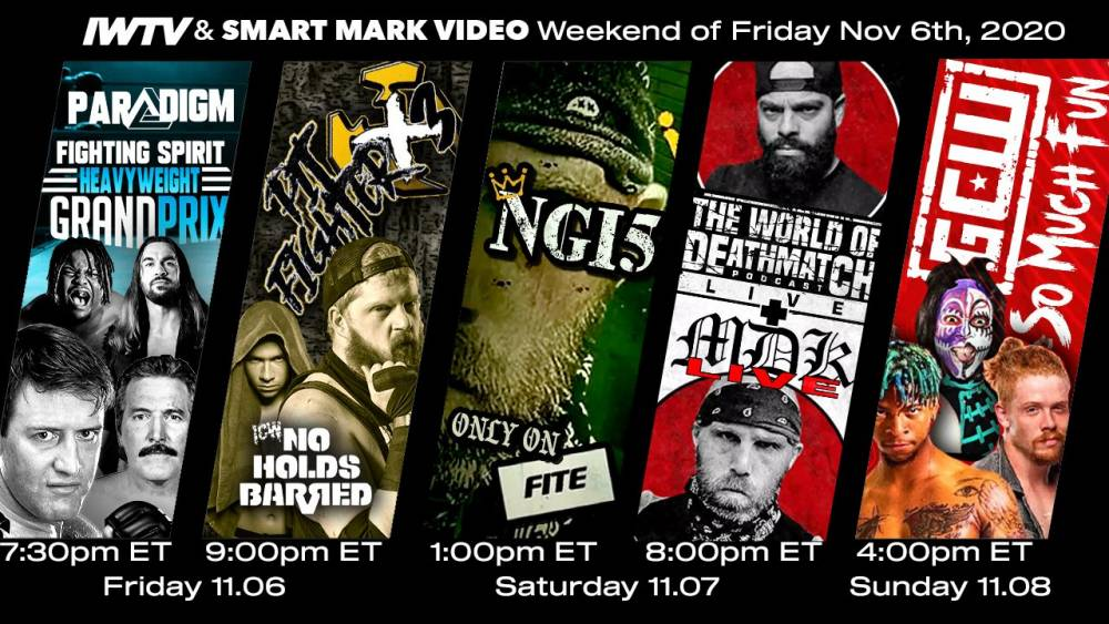 Weekend Preview: 5 live streams in 3 days on IWTV & FITE!