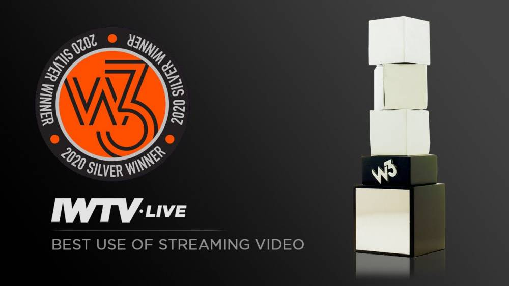 "IWTV wins W3 Award ""Best Use of Streaming Video"""